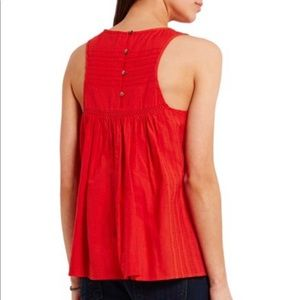 Madewell Tops - Embroidered halter neck tank
